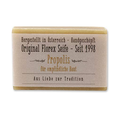 Florex Kaltgerührte Seife Propolis speziell für empfindliche Haut stärkt die Widerstandskraft der Haut (ohne Palmöl) 100g