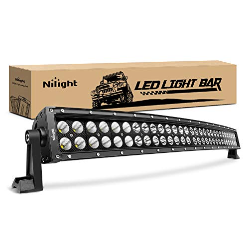 Nilight - 71013C-A 32' 180W Spot Flood Combo High Power LED Driving Lamp LED Light Bar Off Road Fog Driving Work Lights for SUV Boat Jeep Lamp,2 Years Warranty