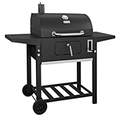 Total 598 Square inches of cooking surface, 393 Square inches for cooking grates, porcelain Enamel steel wiring, 205 Square inches for warming rack, chrome steel wiring. Easy-lift charcoal pan adjustment system for heat control and cooking flexibilit...