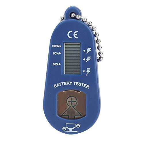 BLLBOO Hörgeräte-Batterie-Prüfvorrichtung LCD-Display Schlüsselring Batterie-Messgerät