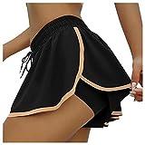 Mikey Store Womens Ruffled Dance Shorts Sexy High Waist Pole Dance Mini Tight Bikini Hot Pants