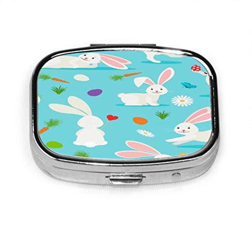 Die Textur der Osterhasen557279260 Lustige Pillenhülle Einzigartige Pillenhülle Tablettenhalter Brieftasche Organizer Hülle für Tasche oder Geldbörse