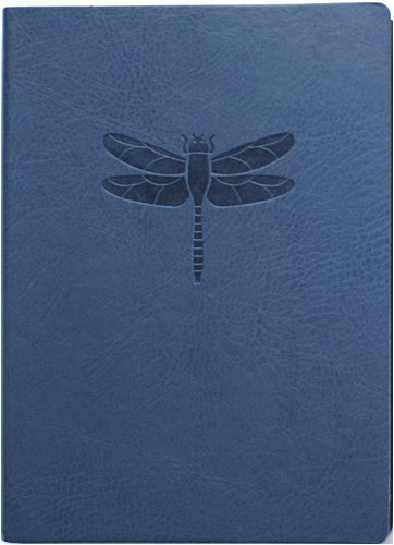 Blue Embossed Dragonfly Faux Leather Journal - Lined