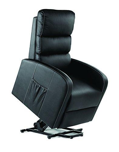 v10 Sillón de Masaje Relax Levantapersonas Modelo Compact Plus (Negro)