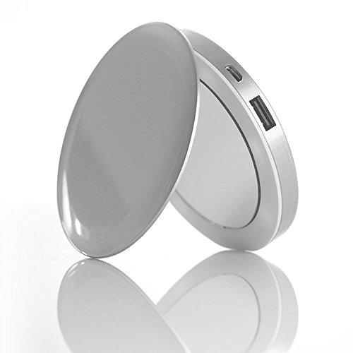 Pearl Espejo de Emergencia batería 3000 mAh para Smartphone (Plateado)