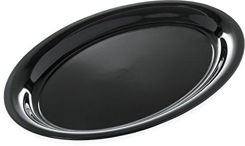 Carlisle 4384003 Designer Displayware Melamine Catering Platter, 21' x 15', Melamine, Black