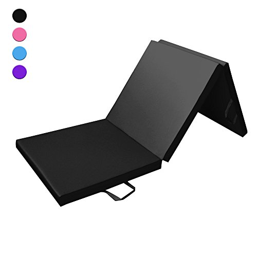 Tri Folding 180 cm Gymnastics & Exercise Mat for Home Gym, 180cm (6ft) Long, 60cm (2ft) Large, 5cm (2in) Thick - Tapis de Sol Pour Exercices, Fitness et Gymnastique