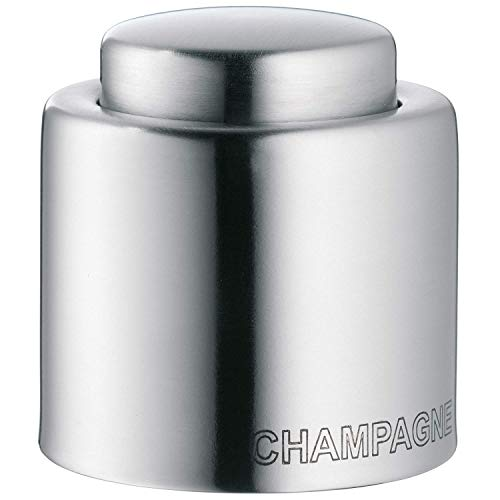 WMF Clever&More Sekt-/Flaschenverschluss, Champagne, Cromargan Edelstahl mattiert, H 4,7cm, Ø 4 cm