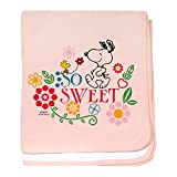CafePress So Sweet Snoopy Baby Blanket, Super Soft Newborn Swaddle