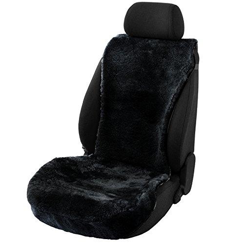 EUGAD 0141QCZT Lammfellbezug Sitzbezüge Sitzauflage aus echtem Lammfell schwarz