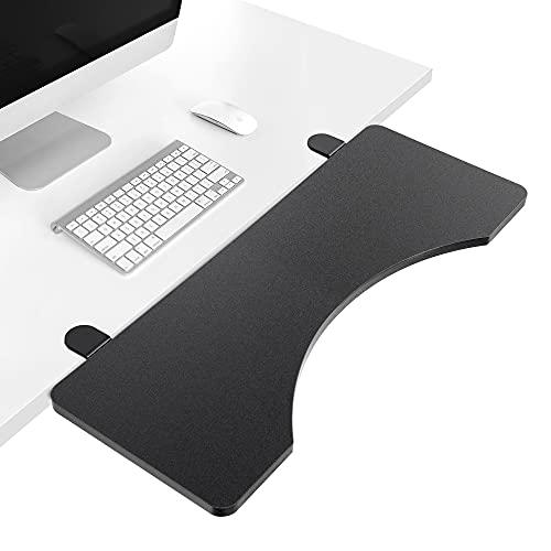 デスクキーボードトレイ デスクトップ延長ボード 黒 65×25cm 新バージョン Wearson WS-K6U
