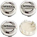 4 Piezas 60mm Coche Tapacubos para Nissan Qashqai Tiida Almera Altima Teana X-Trail, con Emblema De Insignia Embellecedor Central De Llanta De Rueda Cubre Car-Styling Accesorios