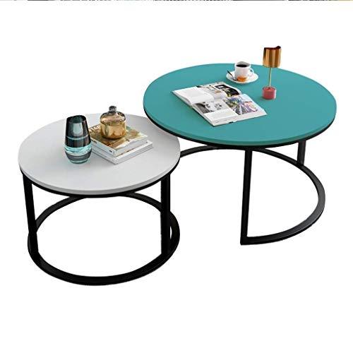 Mesa de centro Extremo de Tablas Mesas nido moderna de café for las tablas de la sala redondo Pequeña laterales for espacios pequeños de madera MDF de mesa Mesa auxiliar Tablas de café pequeñas
