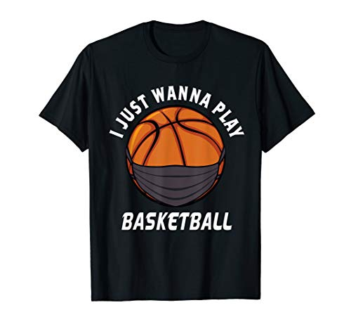 Basketball Face Mask Funny Basketball Quarantine Gift Sports T-Shirt