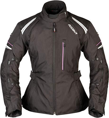 Modeka Violetta Damen Motorrad Textiljacke Schwarz 34