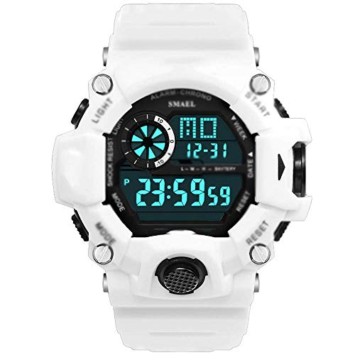 AYDQC Relojes Digitales for el Mens-50m al Aire Libre Impermeable Reloj Deportivo, con Alarma/Temporizador, Electrónica Relojes, por Junior/Adolescentes/for Hombre-C fengong (Color : A)