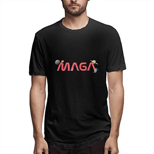Fa Ruxue1 Make America Great Again Men's Short Sleeve T-Shirts Comfort Soft Men's T Shirt,Black,5XL