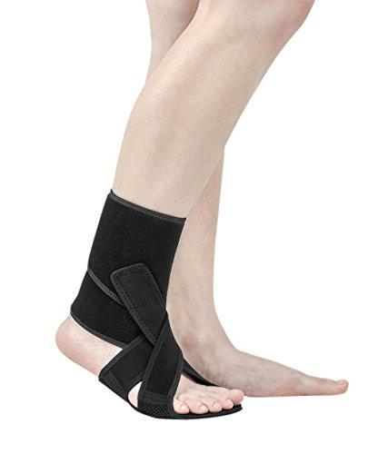 Neofect Soporte para pie caído - Tobillera ajustable de neopreno transpirable para caída del pie, TBI, ALS, MS, AFO, ASO (Right)
