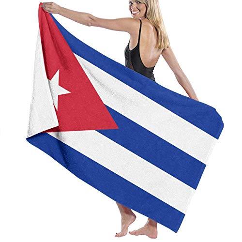 YRTGF Bandera de Cuba Toallas de baño de absorción de Humedad Toallas de Playa para Adultos, Adolescentes