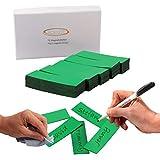 ECENCE 75 Cintas magnéticas reescribibles - 60x20mm Verde - Tiras Adhesivas recortables - Carteles magnéticos borrables - Etiquetas magnéticas para pizarras Blancas, neveras, tableros mag