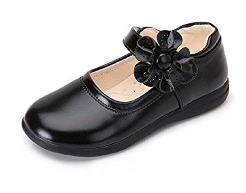 フォーマルシューズ 子供 履きやすい 女の子 靴 キッズ 入園式 卒業式 卒園式 結婚式 入学式 20cm, 黒