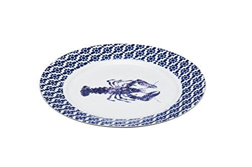 Master Class artesà Porzellan 'Hummer' Servierplatte, Blau Rand, 30cm (30,5cm)