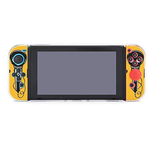 Funda protectora para Nintendo Switch, diseño de calavera y micrófono para Nintendo Switch y Joy Con
