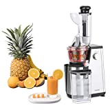 Vertical Fruit and Vegetable Juice Extractor GSX24 H. Koenig Vitamin + Centrifuge BPA free - 82 mm Large Mouth - 3 sieves for fine or thick juice and sorbet - Soft pressure - 50 turns 400 W