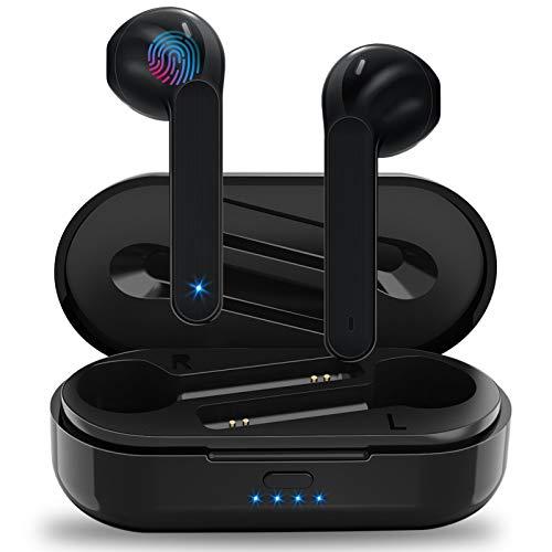 Auriculares Inalámbricos Soicear Auriculares Bluetooth 5.0 In Ear con Micrófono, HiFi Estéreo, IPX5 Impermeabile, Reproducción de 24 Horas, Control Táctil para iPhone Xiaomi Samsung Huawei