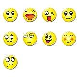 Xinlie Divertido Imanes de Nevera Decorativos Imán Imán de Nevera de Cristal Magnético Imanes Emoji Imán de Neodimio de Colores Imanes de Nevera Imanes Imanes Tablero Magnético para Niños (9 Piezas)