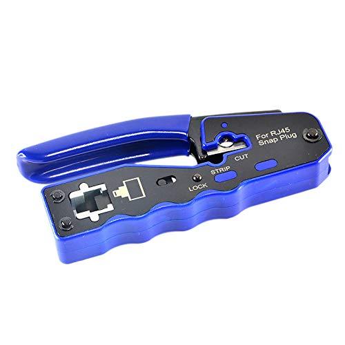 Fltaheroo HY-670 8P8C RJ45 Cable Crimper Ethernet Perforated Herramientas de Crimpado Herramientas de Red MultifuncióN Abrazaderas de Cable