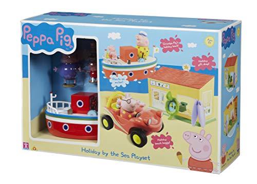 BANDAI Peppa Pig - Playset Peppa Vacaciones en el Mar