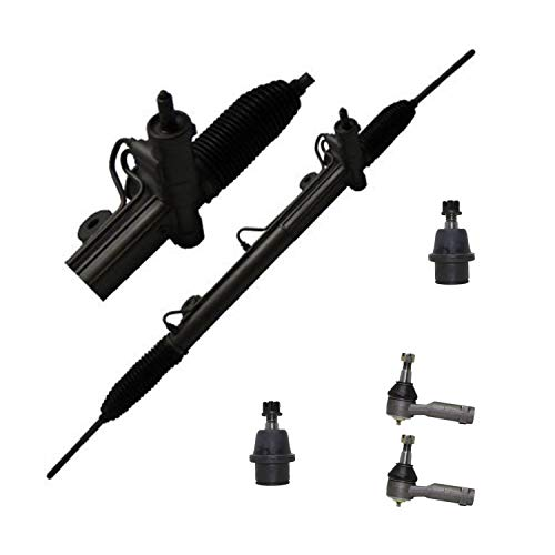 Detroitaxle - Power Steering Rack & Pinion + Front Outer Tie Rods + Lower Ball Joints Replacement for 2004-2008 Ford F-150 2006-2008 Lincoln Mark LT [2WD ONLY] - 5pc Set