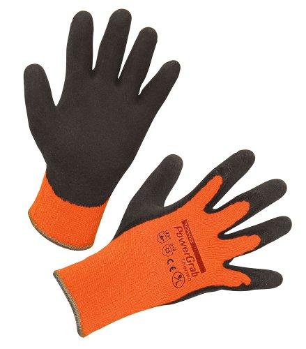 Kerbl 297384 PowerGrab Thermo Strickhandschuh Latex mit Acrylfutter Größe: 10, orange