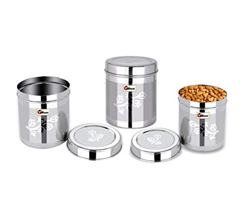 Ebun-Stainless-Steel-Container-Set-for-Kitchen-Airtight-Heavy-Gauge-Steel-Dabba-Small-Size-Set-of-3-with-German-Technology-Laser-Floral-Design