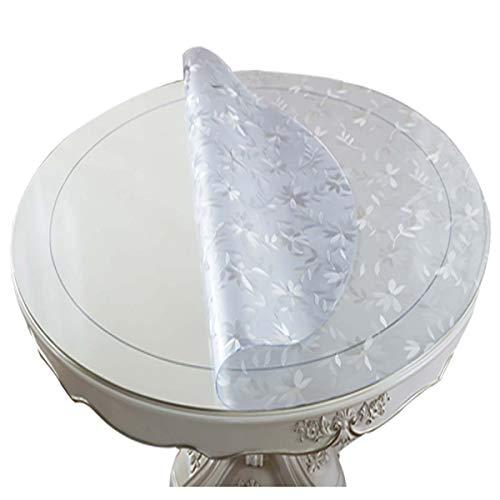xiaowu Mantel Redondo de PVC Vidrio Suave a Prueba de Agua Estera de Tabla Anti-Caliente Mesa de Cristal Transparente Estera de Tabla, 2.0mm, Diameter 120cm