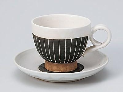 掻落し黒十草コーヒーカップ&ソーサー