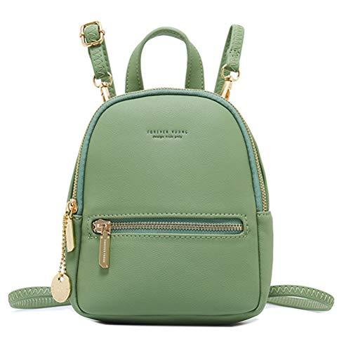 Damen Mini Fashion Rucksack Schultertaschen, Multifunktions Tagesrucksack Schulranzen Umhängetasche Einfaches trendiges Design