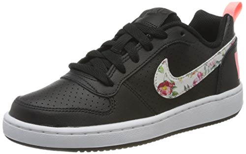 Nike Damen Court Borough Low Vintage Floral Basketballschuhe, Schwarz (Black/Pale Ivory/Pink Tint 1), 35.5 EU