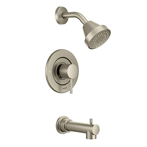 Moen T2193EPBN Align Posi-Temp Pressure Balancing Eco-Performance Modern Tub and Shower Trim Kit, Valve Required, Brushed Nickel