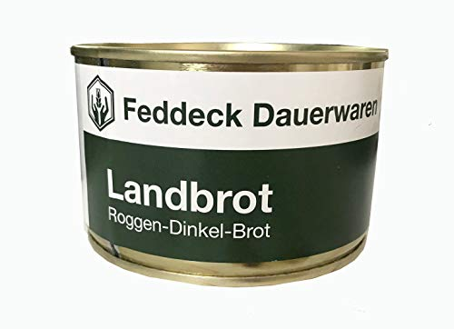 10 x Dosenbrot Landbrot Dinkel-Roggen-Brot in der Dose 200g