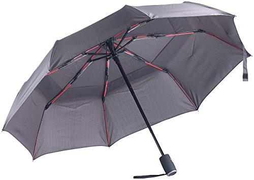 Carlo Milano Sturmschirm: Taschenschirm, Teflon®-Beschichtung 210 T, sicher bis 140 km/h, Ø 95cm (Regenschirm sturmfest)