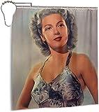 Duschvorhang wasserdicht Lana Turner Vintage Schauspielerin 3D-Bedruckte Polyester Badezimmer Duschvorhänge 70 x 70 Zoll 12 Kunststoffhaken
