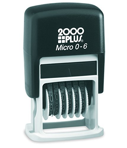 2000 Plus Micro 0-6 Numbering Stamp