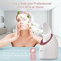 Layhou Vaporizzatore per viso, UV Vapore per il viso Nebbia calda, Umidificatore per il viso, 90ML Capacità 20min Tempo di vapore per Cura della pelle per la casa Pulizia profonda del viso Idratante #3