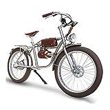 HMEI Bicicleta eléctrica for Mujeres for Adultos 35 0W / 500W / 1000W Cadenless Drive Electric Bicycle 26 Pulgadas Grasa Neumático Playa Retro E-Bike (Color : 350W)
