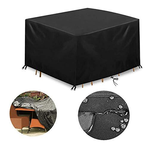 SSZZ Fundas para Muebles De Jardin Cubierta Mesa Cuadrada Impermeable Anti-UV con Protección La Nieve Paño Oxford Resistente Al Viento Polvo Aire Libre,47 * 29inch