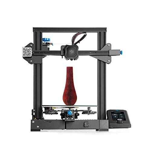 Official Creality Ender 3 V2 3D Printer Integrated Structure Designewith Silent Motherboard Meanwell Power Supplyand Craborundom Glass Platform Resume Printing 220x220x250mm for Beginners