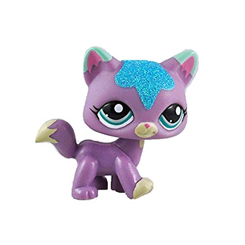 Meetsunshine LPS Toy,2.5 inches LPS Pet Collie Dog Rainbow Eyes Child Girl Figure Toy