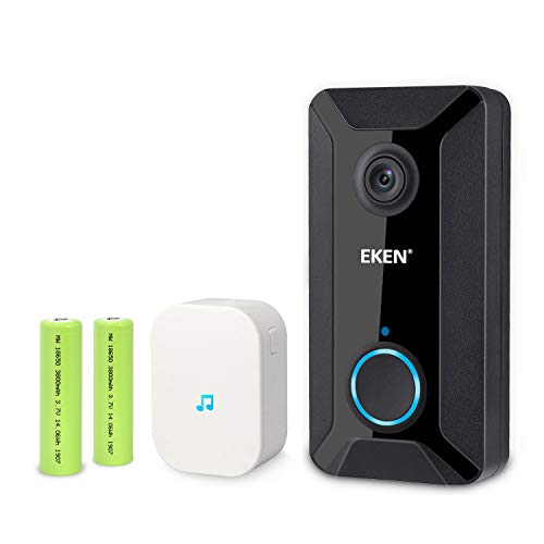 EKEN Smart Wireless WiFi Video Doorbell 720p Cloud Storage Security Camera with Night Vision Two-Way...